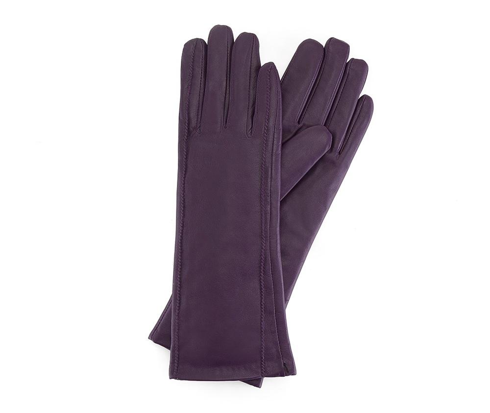 Перчатки женские кожаные Wittchen 39-6L-227-P, фиолетовыйПерчатки женские кожаные<br><br>секс: женщина<br>Цвет: фиолетовый<br>Размер INT: S