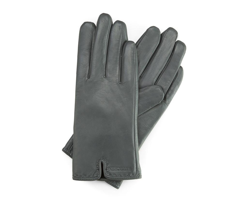 Перчатки женские кожаныеПерчатки женские кожаные<br><br>секс: женщина<br>Цвет: серый<br>Размер INT: M<br>материал:: Натуральная кожа