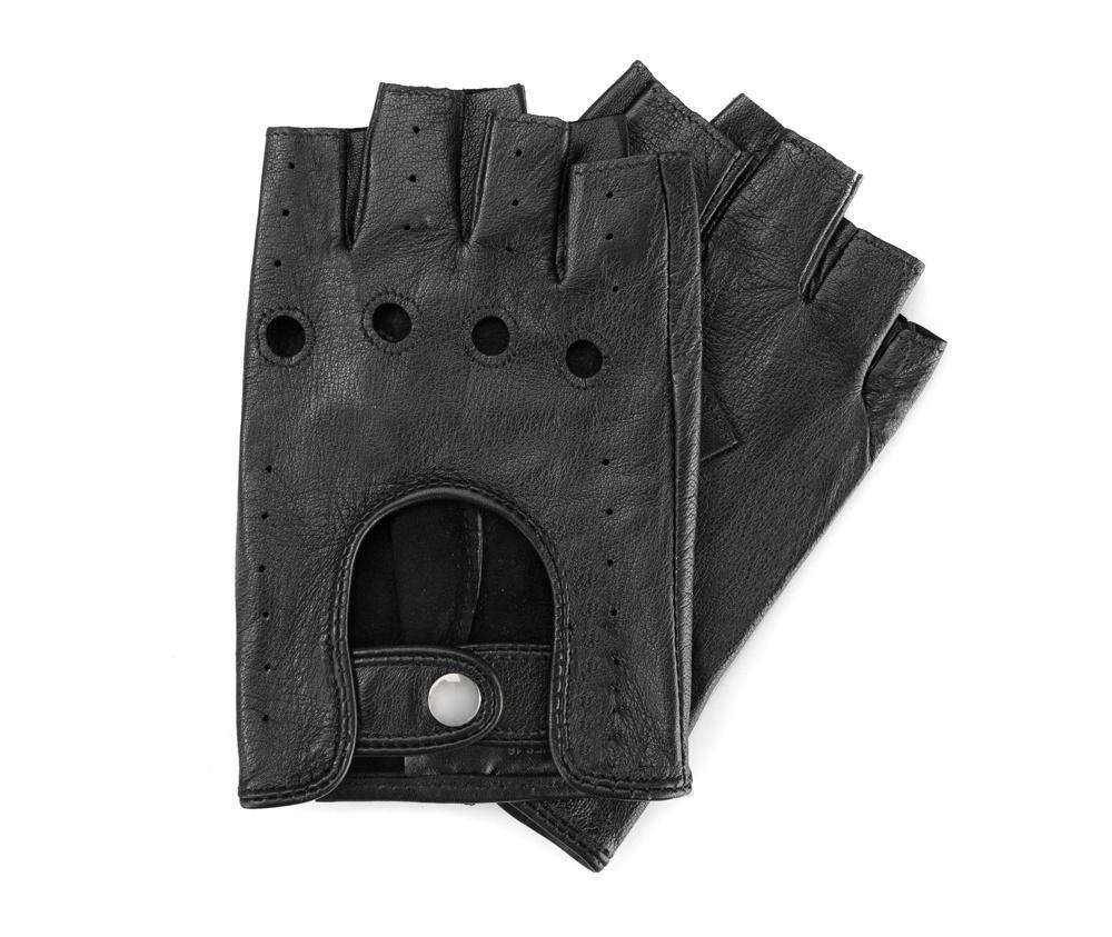 Перчатки женскиеСтильные женские автомобильные перчатки без пальцев , изготовлены из натуральной кожи высокого качества. Эта модель ориентирована на эстетику и функциональность. Застежка на кнопке облегчит надевание перчаток.        Размер V  S  M  L  XL  Длина (см) 18,5  14  14,5  15  15,5 Ширина (см) 8  8,5  9  9,5  10 Длина среднего палеца (см) 8 8,5 9 9,5  10<br><br>секс: женщина<br>Цвет: черный<br>Размер INT: L<br>материал:: Натуральная кожа