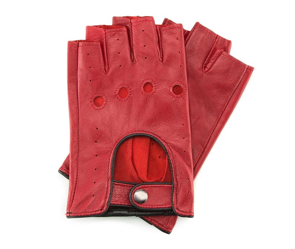 Перчатки женскиеСтильные женские автомобильные перчатки без пальцев , изготовлены из натуральной кожи высокого качества. Эта модель ориентирована на эстетику и функциональность. Застежка на кнопке облегчит надевание перчаток.        Размер V  S  M  L  XL  Длина (см) 18,5  14  14,5  15  15,5 Ширина (см) 8  8,5  9  9,5  10 Длина среднего палеца (см) 8 8,5 9 9,5  10<br><br>секс: женщина<br>Размер INT: L<br>материал:: Натуральная кожа