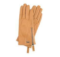 Rękawiczki damskie, żółty, 45-6-515-L-M, Zdjęcie 1