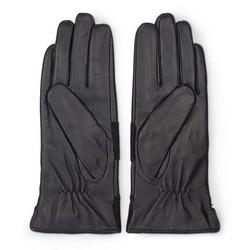 Damskie rękawiczki skórzane z poziomym pasem, czarny, 39-6-576-1-S, Zdjęcie 1