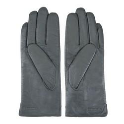 Damskie rękawiczki skórzane z ozdobnym szwem, szary, 39-6L-188-S-M, Zdjęcie 1
