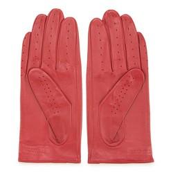 Damskie rękawiczki skórzane samochodowe, czerwony, 46-6-304-2T-L, Zdjęcie 1
