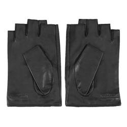 Damskie rękawiczki skórzane bez palców z nitami, czarny, 46-6-306-1-M, Zdjęcie 1