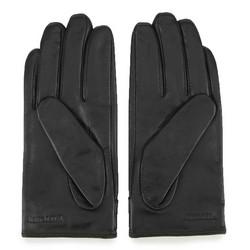 Damskie rękawiczki ze skóry z nitami, czarny, 46-6-307-1-L, Zdjęcie 1