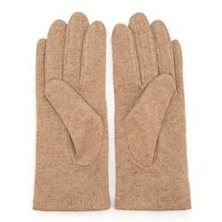 Rękawiczki damskie, jasny beż, 47-6-113-A-U, Zdjęcie 1