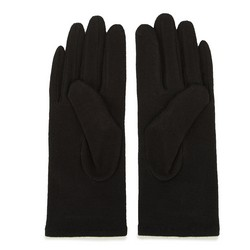 Damskie rękawiczki wełniane z okrągłymi ozdobami, czarny, 47-6-114-1-U, Zdjęcie 1