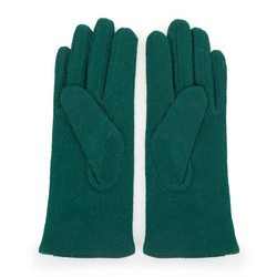 Damskie rękawiczki wełniane z kokardką, zielony, 47-6-X91-Z-U, Zdjęcie 1