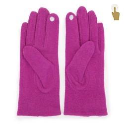 Damskie rękawiczki wełniane do smartfona, purpurowy, 47-6-X92-P-U, Zdjęcie 1