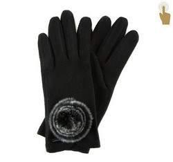 Rękawiczki damskie, czarny, 47-6-101-1-U, Zdjęcie 1