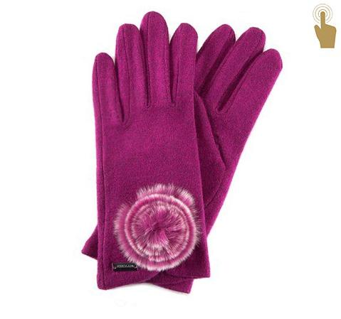 Rękawiczki damskie, różowy, 47-6-101-2-U, Zdjęcie 1