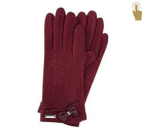 Rękawiczki damskie, bordowy, 47-6-102-2T-U, Zdjęcie 1