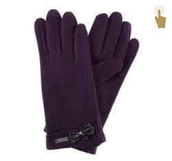 Rękawiczki damskie, fioletowy, 47-6-102-P-U, Zdjęcie 1