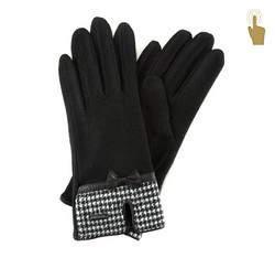 Rękawiczki damskie, czarny, 47-6-103-1-U, Zdjęcie 1
