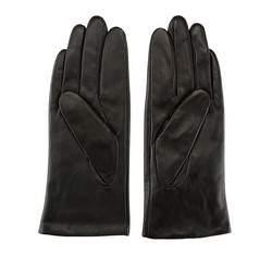 Damskie rękawiczki skórzane klasyczne, czarny, 39-6-500-1-L, Zdjęcie 1