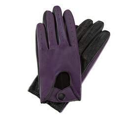 Rękawiczki damskie, fioletowo - czarny, 46-6-270-P-L, Zdjęcie 1
