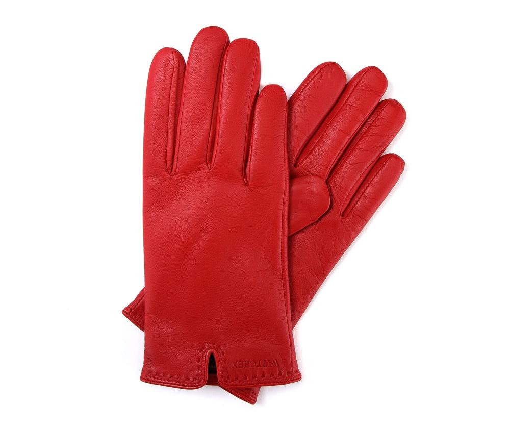 Перчатки женские кожаные Wittchen 39-6-213-2T, красныйПерчатки женские кожаные<br><br>секс: женщина<br>Размер INT: M