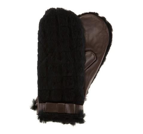 Rękawiczki damskie, ciemny brąz, 39-6-502-B-L, Zdjęcie 1