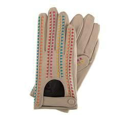 Rękawiczki damskie, beżowy, 46-6-271-6A-S, Zdjęcie 1