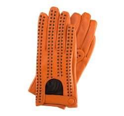 Rękawiczki damskie, pomarańczowo - brązowy, 46-6-271-6-S, Zdjęcie 1