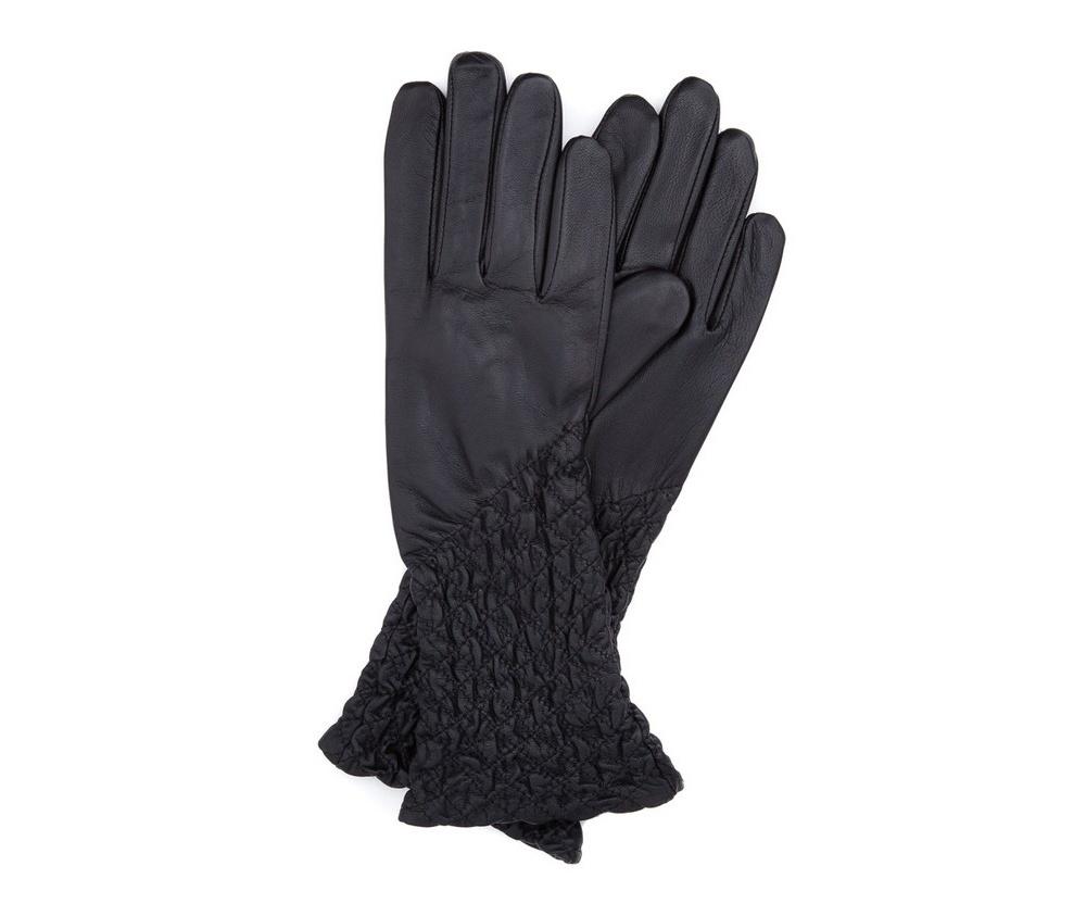 Перчатки женские кожаные Wittchen 39-6-214-1, черныйПерчатки женские кожаные<br><br>секс: женщина<br>Цвет: черный<br>Размер INT: M