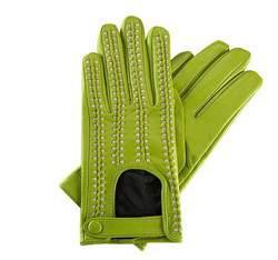 Rękawiczki damskie, zielono - beżowy, 46-6-271-7T-M, Zdjęcie 1