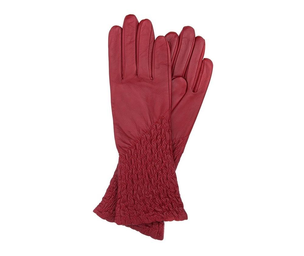9cb637171d0d7 Ocieplane czarne rękawiczki damskie ze skóry naturalnej   WITTCHEN   39-6- 214