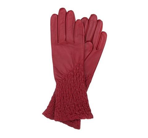 Rękawiczki damskie, czerwony, 39-6-214-6A-L, Zdjęcie 1