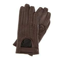 Rękawiczki damskie, brązowo - złoty, 46-6-271-B-S, Zdjęcie 1