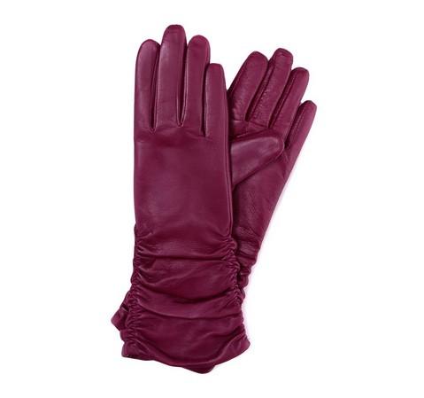 Rękawiczki damskie, fioletowy, 39-6-284-M-S, Zdjęcie 1
