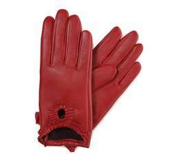 Rękawiczki damskie, czerwony, 39-6-285-2T-L, Zdjęcie 1