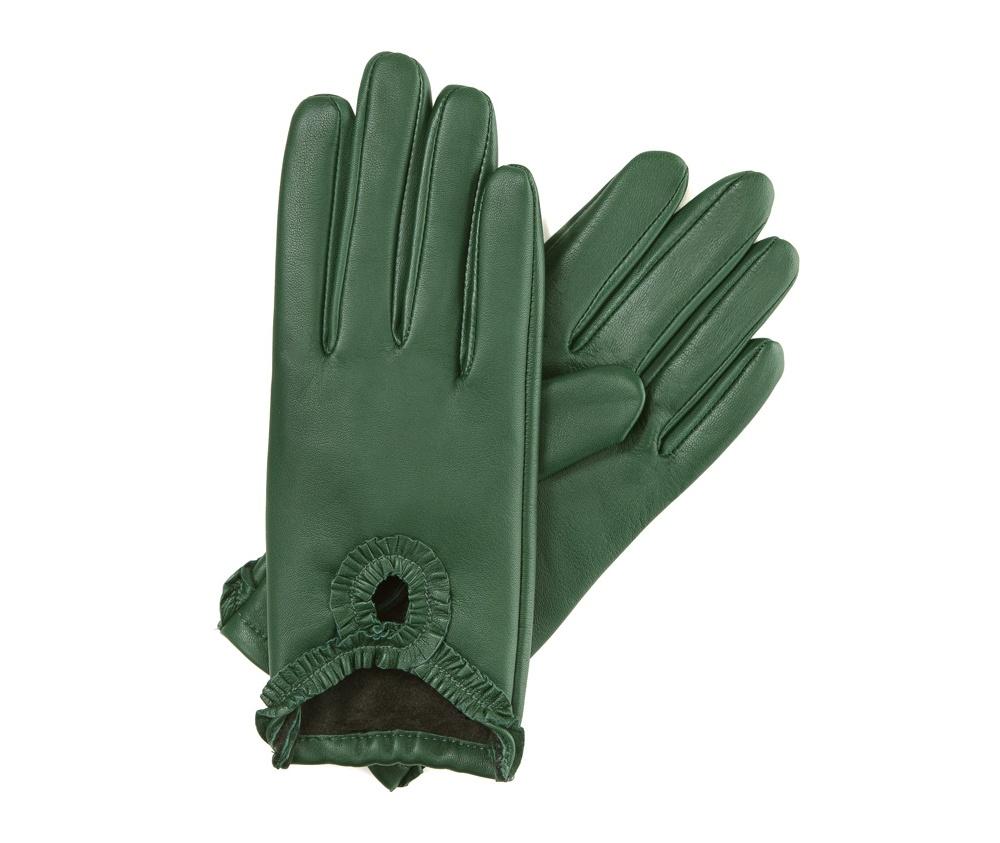 Перчатки женские кожаные Wittchen 39-6-285-7T, зеленыйПерчатки женские кожаные<br><br>секс: женщина<br>Цвет: зеленый<br>Размер INT: XL