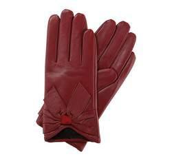 Rękawiczki damskie, bordowy, 39-6-508-2T-L, Zdjęcie 1