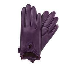 Rękawiczki damskie, śliwkowy, 39-6-285-P-M, Zdjęcie 1