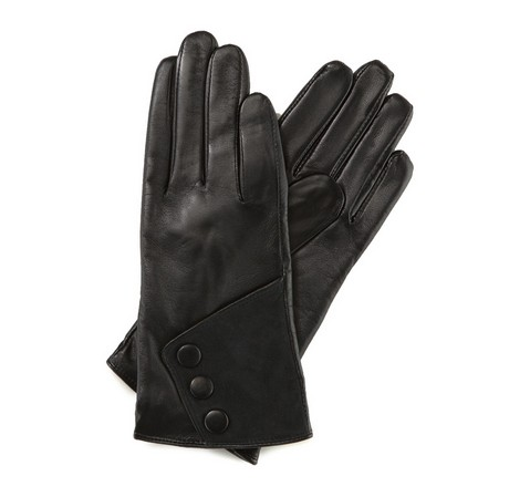 Rękawiczki damskie, czarny, 39-6-286-1-S, Zdjęcie 1