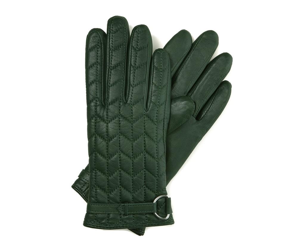 Перчатки женские кожаные Wittchen 39-6-287-7T, зеленыйПерчатки женские кожаные<br><br>секс: женщина<br>Цвет: зеленый<br>Размер INT: L<br>материал:: Натуральная кожа