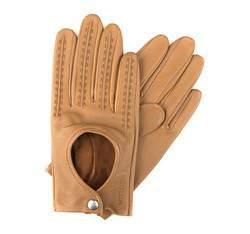 Rękawiczki damskie, jasny brąz, 46-6-290-6A-M, Zdjęcie 1
