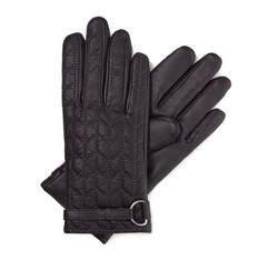Rękawiczki damskie, ciemny  szary, 39-6-287-FA-S, Zdjęcie 1