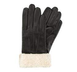 Перчатки женские кожаные Wittchen 39-6-288-1, черный 39-6-288-1