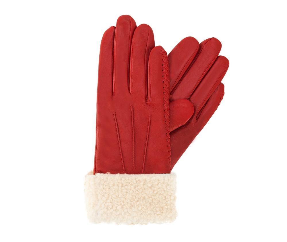 Перчатки женские кожаные Wittchen 39-6-288-2T, красныйПерчатки женские кожаные<br><br>секс: женщина<br>Размер INT: S