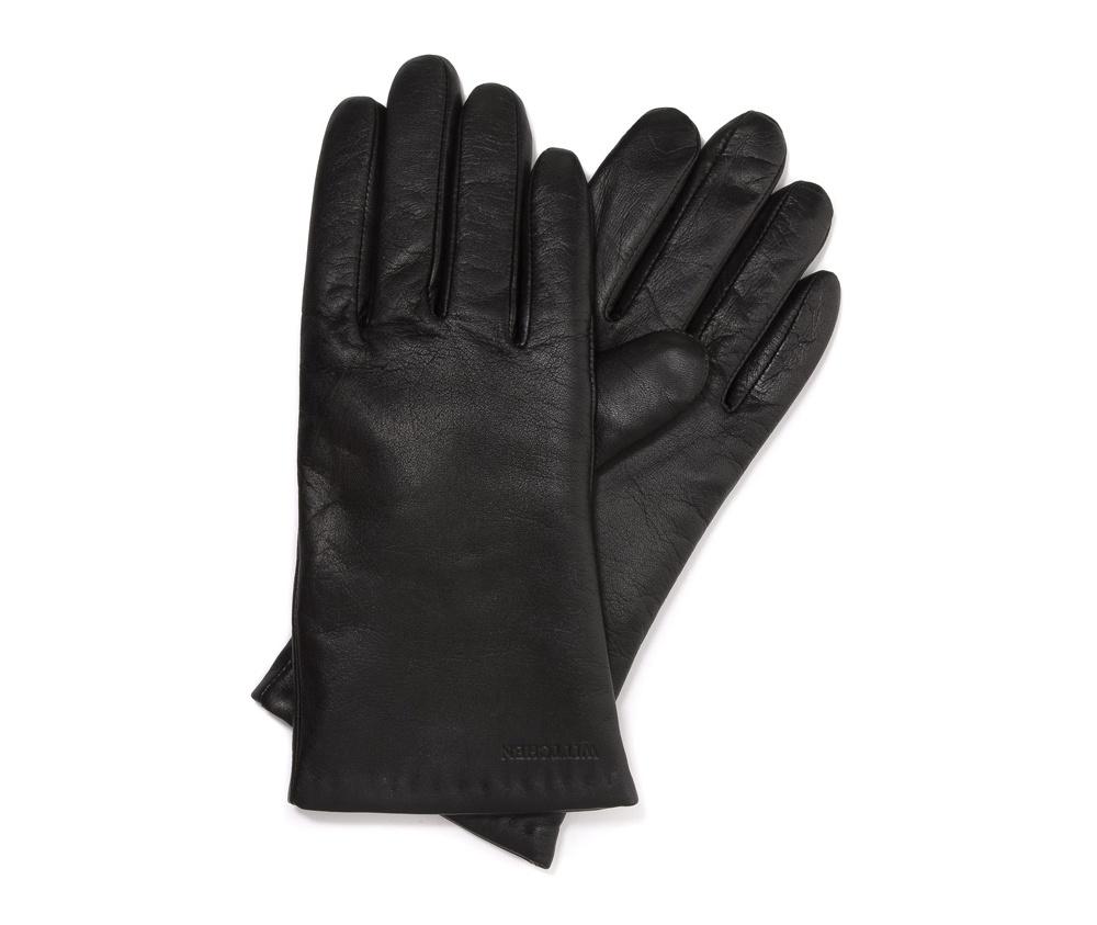 Перчатки женские кожаные Wittchen 44-6-201-1, черныйПерчатки женские кожаные<br><br>секс: женщина<br>Цвет: черный<br>Размер INT: L