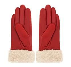 Rękawiczki damskie, czerwony, 39-6-288-2T-S, Zdjęcie 1