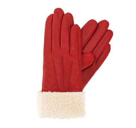 Rękawiczki damskie, czerwony, 39-6-288-2T-V, Zdjęcie 1