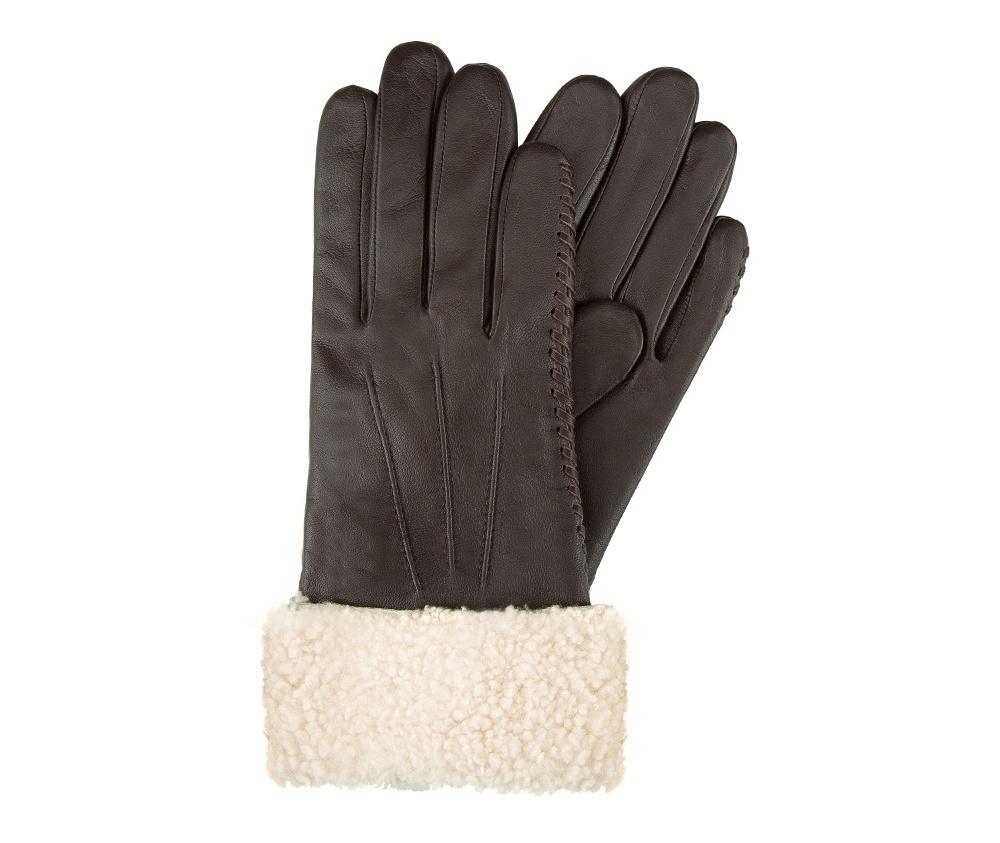 Перчатки женские кожаные Wittchen 39-6-288-B, темно-коричневыйПерчатки женские кожаные<br><br>секс: женщина<br>Цвет: коричневый<br>Размер INT: S<br>материал:: Натуральная кожа
