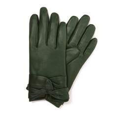 Rękawiczki damskie, zielony, 39-6-218-7T-L, Zdjęcie 1