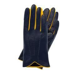 Rękawiczki damskie, granatowo - żółty, 39-6-516-GN-XL, Zdjęcie 1