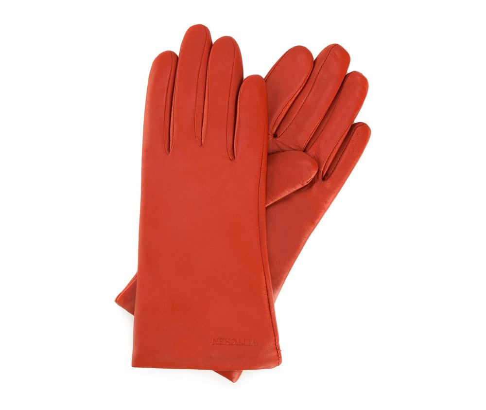 Перчатки женские кожаные Wittchen 44-6-201-6, красныйПерчатки женские кожаные<br><br>секс: женщина<br>Размер INT: M