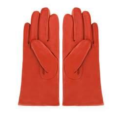 Damskie rękawiczki ze skóry gładkie, czerwony, 44-6-201-6-M, Zdjęcie 1