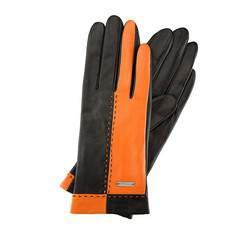 Rękawiczki damskie, pomarańczowo - czarny, 39-6-517-16-XL, Zdjęcie 1